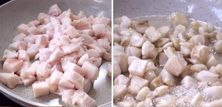 Bước 2 Làm tóp mỡ Sò dương nướng mỡ hành