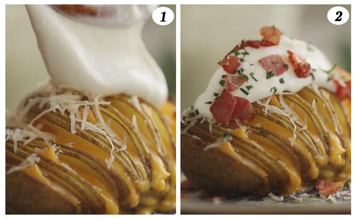 Bước 6 Hoàn thành Khoai tây đút lò phô mai