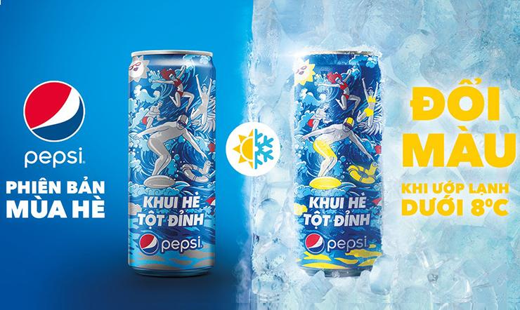 Ra mắt phiên bản mới Pepsi đổi màu - Khui hè tột đỉnh
