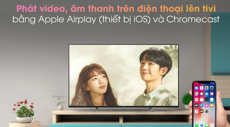 tivi Sony X8000H đó là thiết bị được trang bị Apple Homekit và Apple Airplay