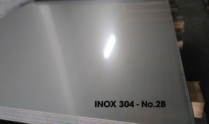 Các loại bề mặt Inox 304 phổ biến hiện nay - Inox 304 - No.2B