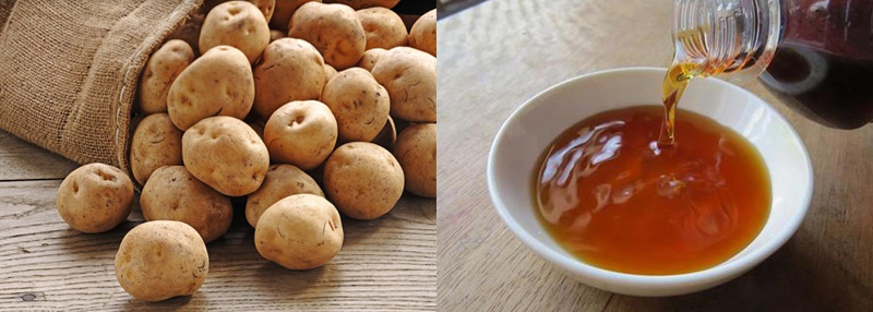Nguyên liệu món ăn snack khoai tây bằng lò vi sóng