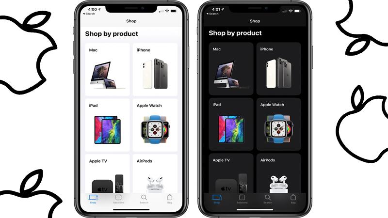 Dark Mode Apple Store