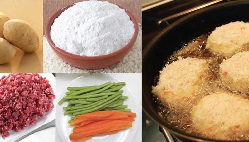 Cách làm món bánh khoai tây nhân thịt chiên