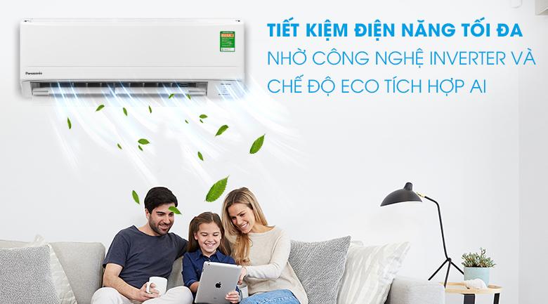 Chế độ ECO tích hợp trí thông minh nhân tạo AI -Máy lạnh Panasonic