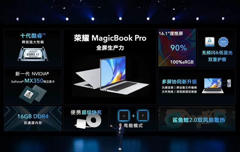 Honor MagicBook Pro 2020 ra mắt