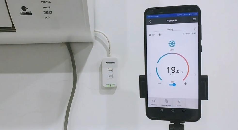 kết nối thành công điều hòa Panasonic với điện thoại sử dụng chế độ AP.