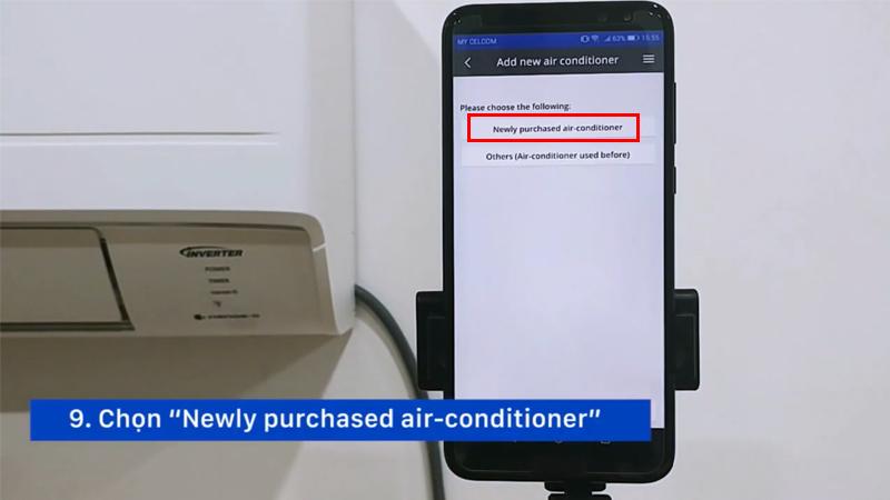 Kết nối điều hòa Panasonic với smartphone