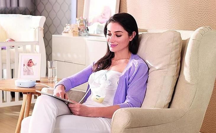 Tìm một tốc độ thoải mái và hiệu quả, bạn sẽ thấy máy hút sữa tự động không hề gây cảm giác đau.
