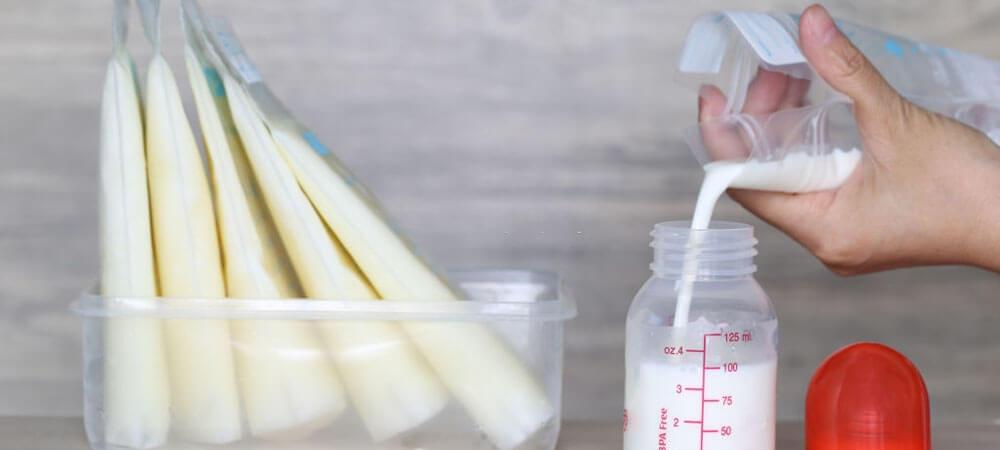 lưu ý khi dùng túi trữ sữa