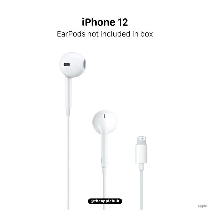 Dòng iPhone 12 sắp ra mắt có thể không đi kèm với tai nghe EarPods trong hộp đựng