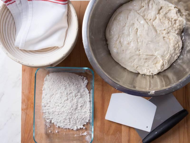 High – gluten flour