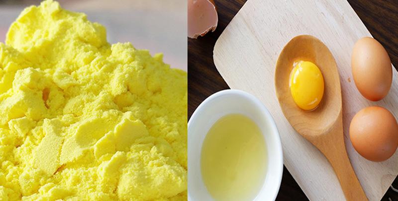 mặt nạ nghệ trứng gà trị mụn   Món Miền Trung