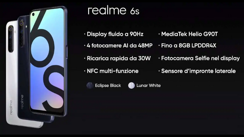 Realme 6s ra mắt: Trang bị Helio G90T, 4 camera 48MP, giá 5 triệu đồng