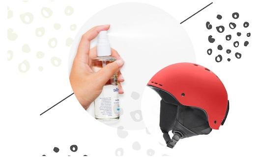 Dùng xịt khử mùi cho mũ bảo hiểm