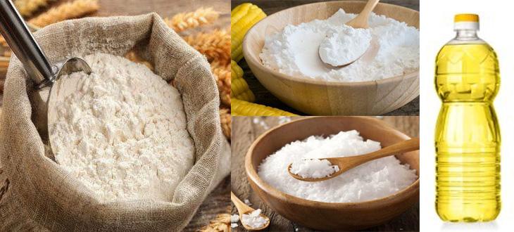 Chuẩn bị nguyên liệu và dụng cụ làm bánh phở từ bột gạo
