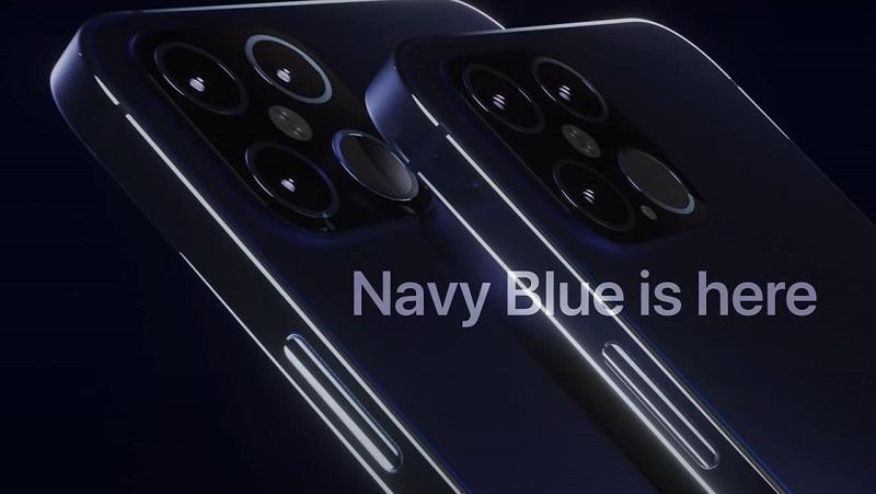 Chiêm ngưỡng mẫu thiết kế  iPhone 12 Pro màu Xanh Navy tuyệt đẹp, khung viền phẳng, 4 camera đúng như mong ước của các iFan