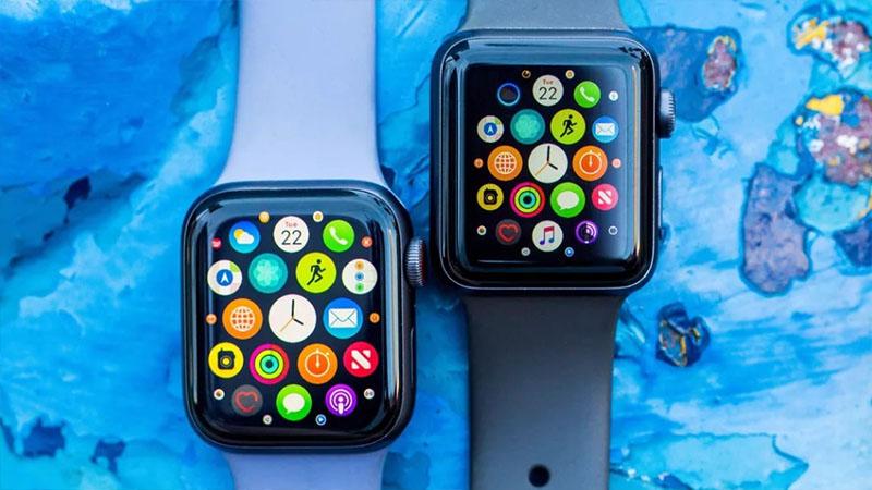 thiết kế tổng thể của Apple Watch S3 vs Apple Watch S5