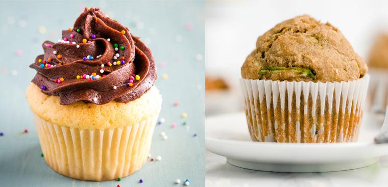 Cách phân biệt bánh muffin và bánh cupcake