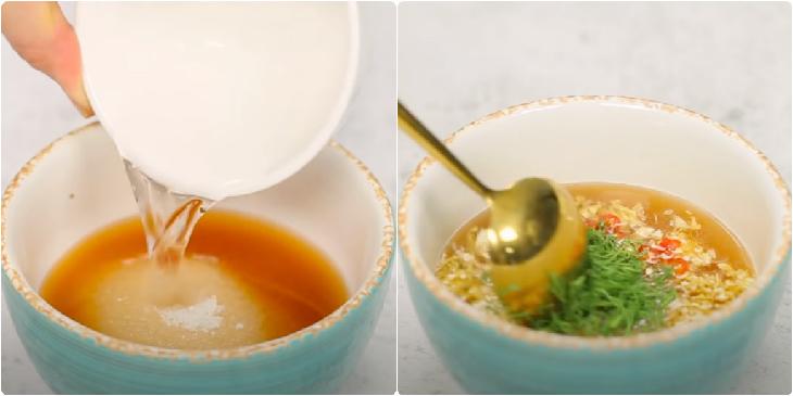 Bước 4 Làm nước chấm Cá lóc nướng mỡ hành