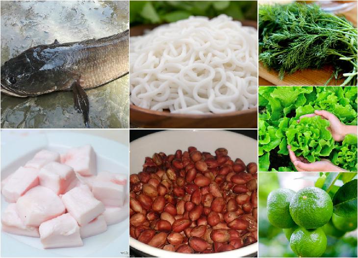 Nguyên liệu món ăn cá lóc nướng mỡ hành