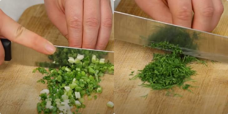 Bước 3 Sơ chế các nguyên liệu khác Cá lóc nướng mỡ hành