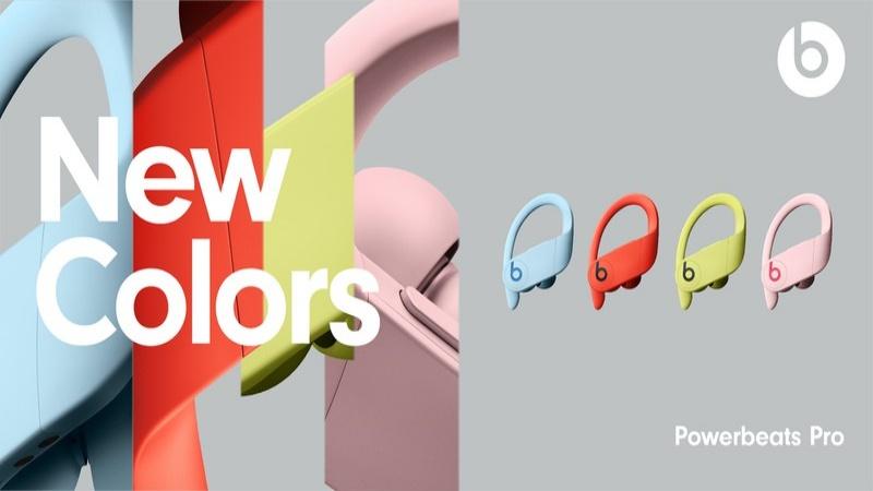 Powerbeats Pro được bổ sung thêm bốn màu mới: Vàng Spring, hồng Cloud, đỏ Lava và xanh dương Glacier