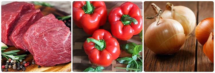 Nguyên liệu món ăn 2 cách làm thịt xiên nướng rau củ và nướng cà ri