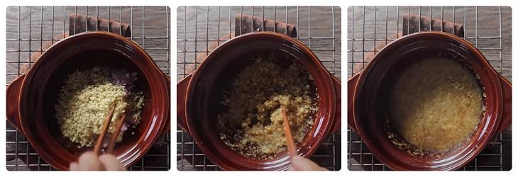 Bước 1 Pha sốt cà ri Thịt xiên nướng cà ri