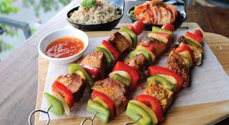 Bước 4 Thành phẩm Thịt xiên nướng rau củ