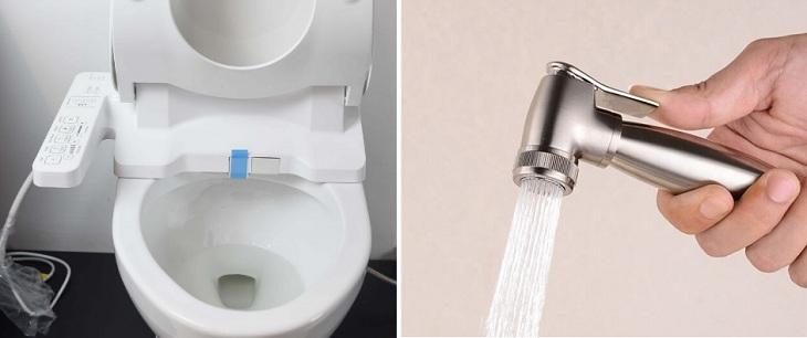 Vòi xịt vệ sinh thông minh với vòi xịt vệ sinh cầm tay