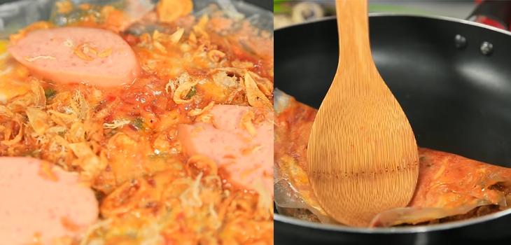 Bước 4 Nướng bánh tráng Bánh tráng nướng pate