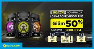 Giảm SỐC 50% khi đặt trước loa karaoke LG Xboom RN5