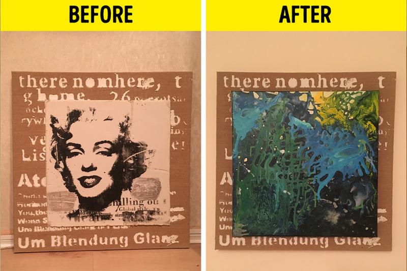 Sử dụng một khung vẽ cũ để trang trí cho ngôi nhà