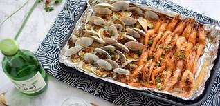 Cách làm nấm nướng giấy bạc hải sản ngon miệng, thơm lừng, cực hấp dẫn