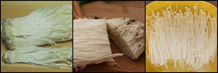 Bước 2 Sơ chế nấm Nấm nướng giấy bạc hải sản
