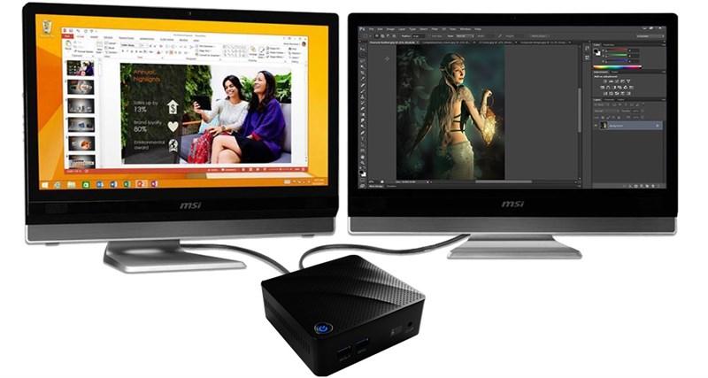 Với cổng HDMI và cổng VGA MSI, Cubi N 8GL có thể hỗ trợ màn hình kép