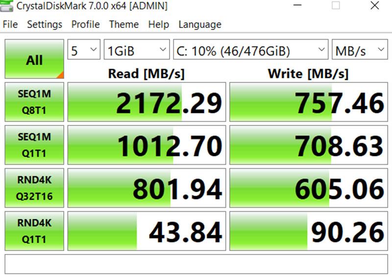 Đo ổ cứng SSD bằng Crystal DiskMark