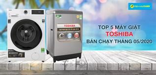 Top 5 Máy giặt Toshiba bán chạy nhất tháng 05/2020 tại Điện máy XANH