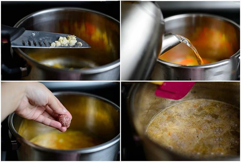 Bước 3: Nấu canh