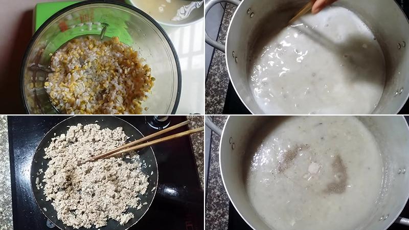 Bước 3: Nấu cháo