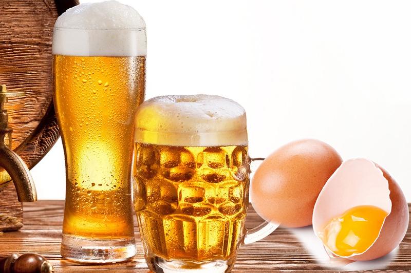 Ủ tóc bằng trứng gà và bia