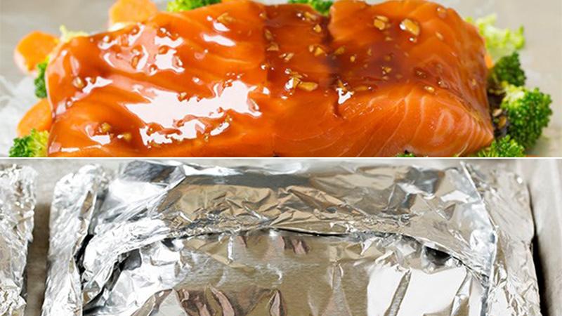 Cách làm cá hồi nướng giấy bạc thơm ngon nhiều dưỡng chấ