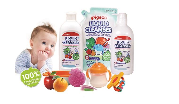 Nước rửa bình sữa PIGEON - Người bạn không thể thiếu giúp mẹ chăm con