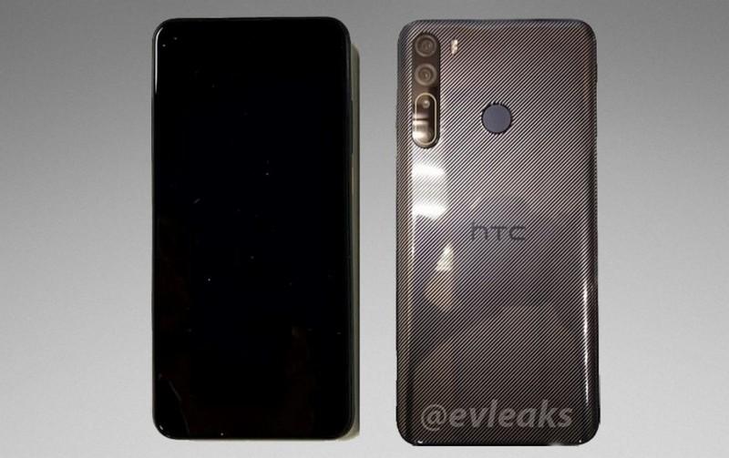 HTC Desire 20 Pro lộ ảnh thực tế với mặt sau bóng bẩy, 4 camera xếp dọc, dự là sắp ra mắt rồi