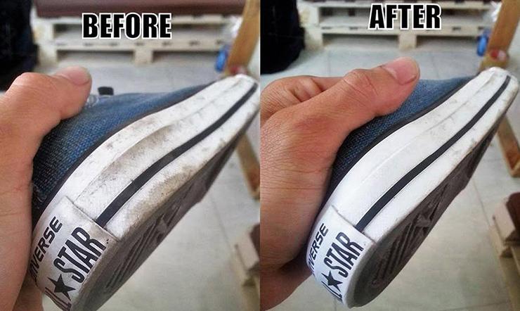 Cách làm sạch đế giày thể thao trong vòng 1 nốt nhạc với các nguyên liệu có sẵn trong nhà