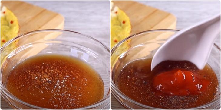 Bước 3 Làm trứng chiên nước mắm Trứng chiên nước mắm