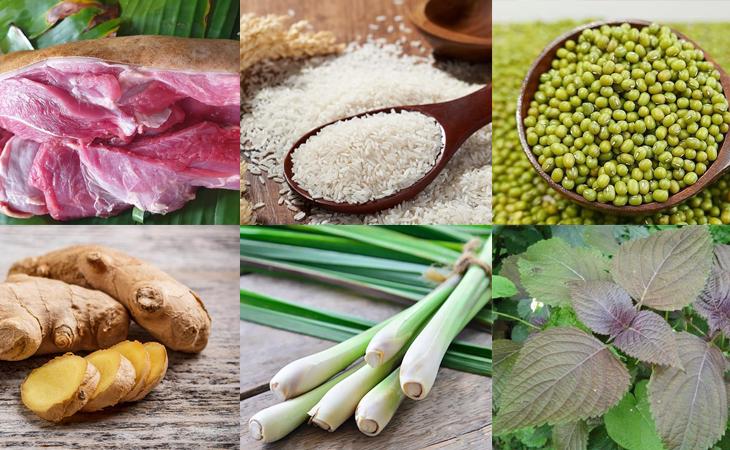 Nguyên liệu món ăn cháo dê đậu xanh