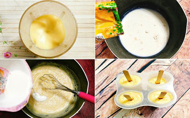 Nấu hỗn hợp kem