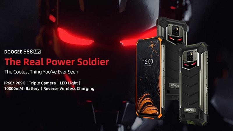 Doogee S88 Pro ra mắt: Pin khủng 10.000 mAh, thiết kế mang phong cách Iron Man và bền vô đối